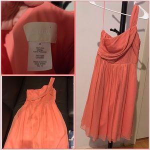 J crew silk dress size 2 coral color